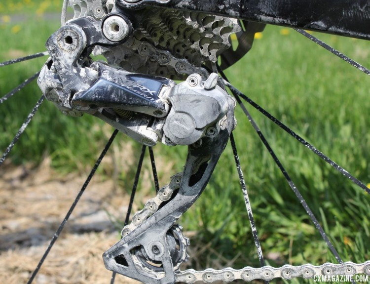 The Alfa Allroad provided a platform to test out the new Shimano Ultegra RX805 clutch-based derailleur. Almanzo 100 Allied Alfa Allroad. © Cyclocross Magazine