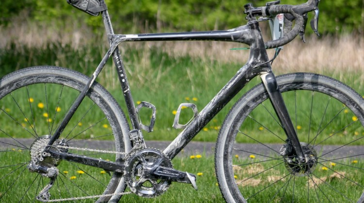 The author's Alfa Allroad bike picked up some Minnesota dust on the warm Almanzo 100 afternoon. Almanzo 100 Allied Alfa Allroad. © Cyclocross Magazine