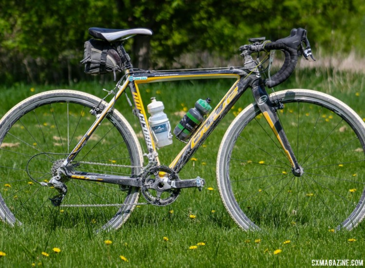 Dee Dee Winfield's 2018 Almanzo-100-Winning Blue Norcross SL. © Cyclocross Magazine