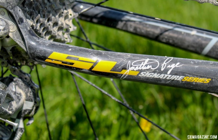 The Norcross SL was one of the Jonathan Page signature edition frames from the recently retired legend's days riding with Blue. Dee Dee Winfield's 2018 Almanzo-100-Winning Blue Norcross SL. © Cyclocross Magazine