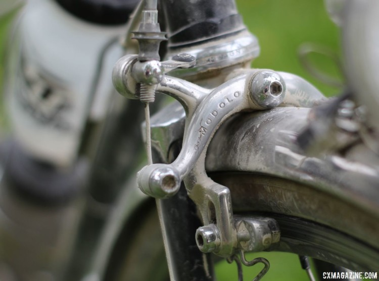 Allen's gravel bike had vintage Modolo road calipers to keep stopped properly retro. Matt Allen's 2018 Almanzo 100 Medici Gran Turismo Gravel Bike. © Cyclocross Magazine