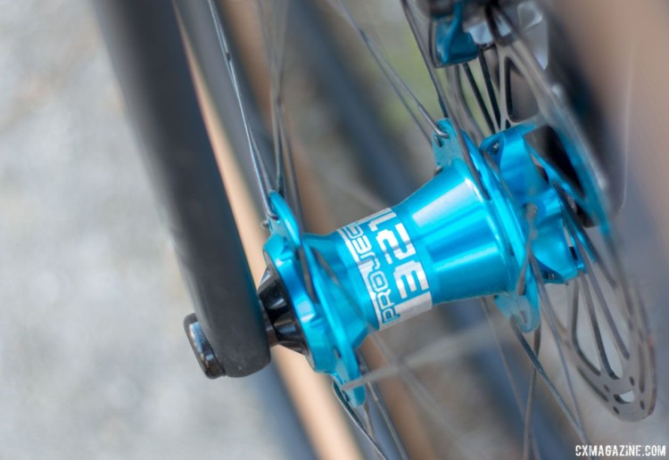 Knight Composites offers the USA-made high-end Project 321 hubsets as an option. 2018 Sea Otter Classic cyclocross and gravel new products. © Cyclocross Magazine