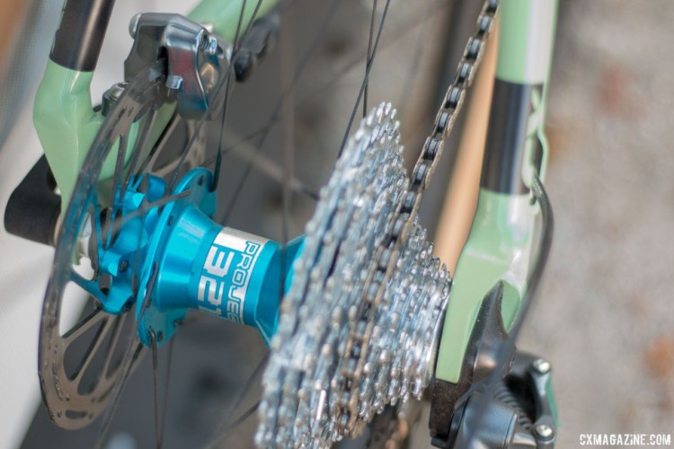 1.7 degrees of engagement? 68% less drag and quiet? Project 321 freehubs add to the appeal of Knight Composites' new TLA tubeless aero carbon wheelsets. Stay tuned for a review. 2018 Sea Otter Classic cyclocross and gravel new products. © Cyclocross Magazine