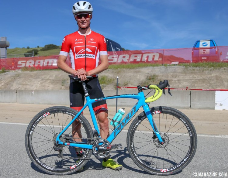 Haidet carried his momentum from Super G to Sea Otter to win the exhibition cyclocross race. Lance Haidet's 2018 Sea Otter Classic cyclocross race-winning Pivot Vault. © J. Silva / Cyclocross Magazine