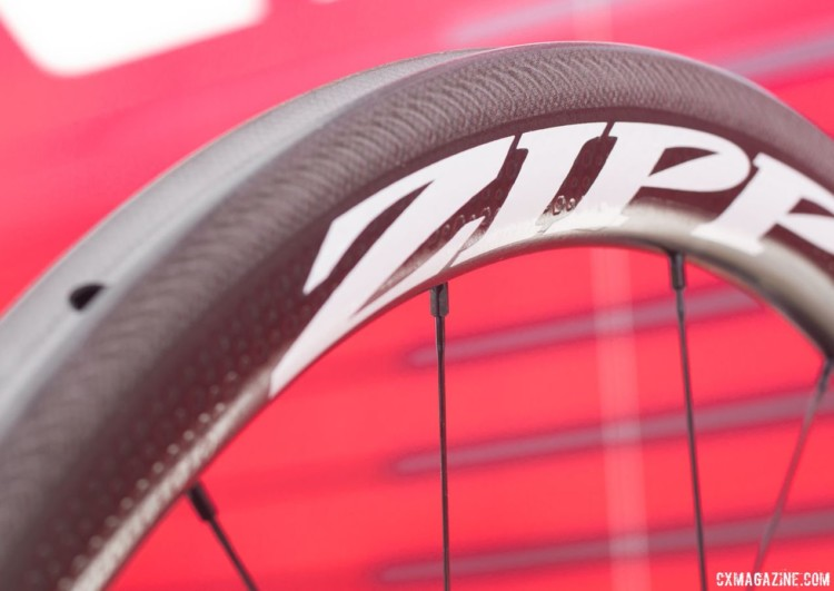 Zipp has strengthened its 303 Firecrest tubular wheels, but kept the dimensions and they look the same to the naked eye. 2018 Sea Otter Classic cyclocross and gravel new products. © Cyclocross Magazine