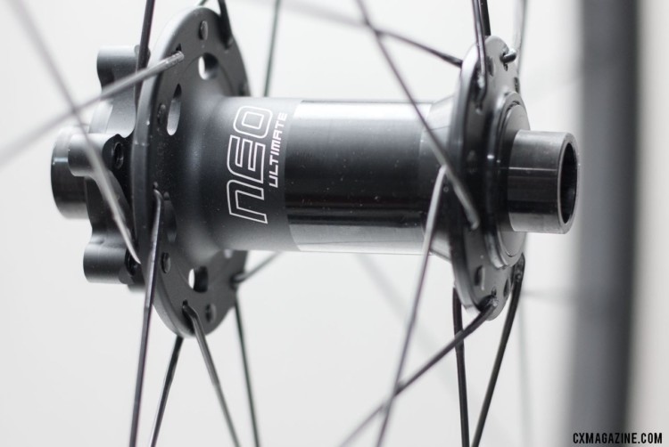 The NEO Ultimate hubs are also keep weight down. Stan's NoTubes Grail CB7 carbon tubeless wheelset for gravel and cx. © Cyclocross Magazine