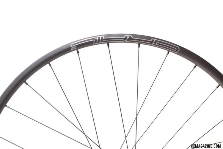 Weight savings, airtight performance, with some flex. Stan's NoTubes Grail CB7 carbon tubeless wheelset for gravel and cx. © Cyclocross Magazine
