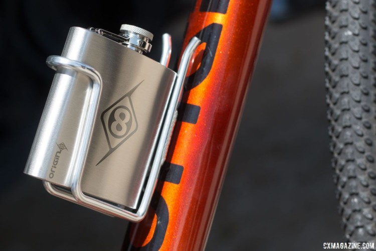 Origin8 is trying to move into higher price point and performance areas although its 6 oz stainless steel flask and holder might not help your performance. 2018 Sea Otter Classic cyclocross and gravel new products. © Cyclocross Magazine
