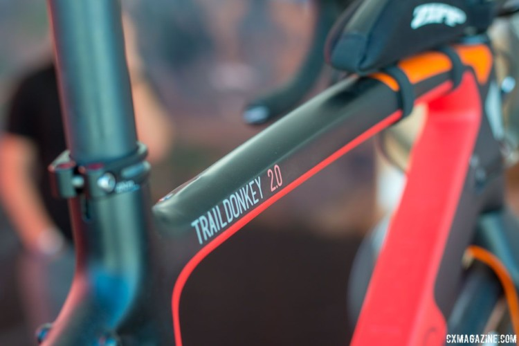 The Trail Donkey 2.0 is designed to be dropper post compatible for trail riding. © Cyclocross Magazine