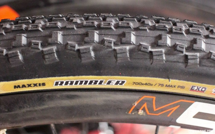 Maxxis and sister brand CST are showing off their new tanwall gravel and cyclocross tires. © Cyclocross Magazine