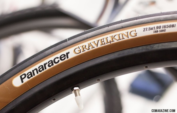 The Panaracer GravelKing tires come in tanwall color options. © Cyclocross Magazine
