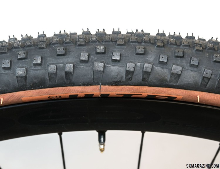 WTB's Resolute 42 gravel tire comes in the company's iconic copper tanwall color. © Cyclocross Magazine