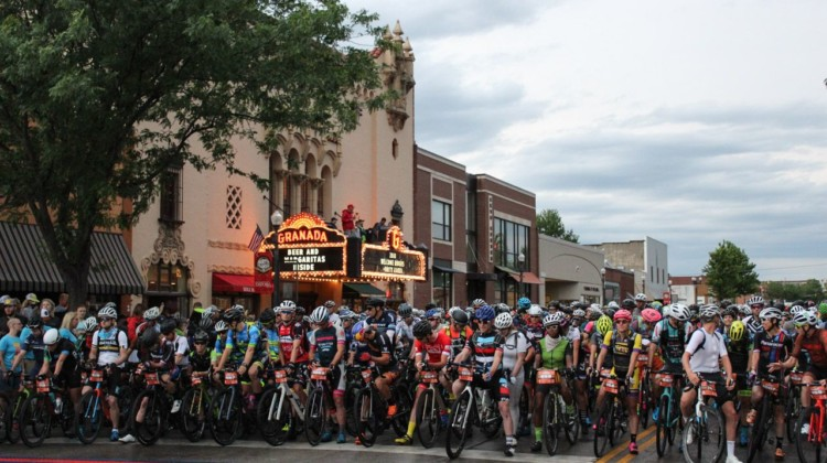 The Dirty Kanza 200 has grown a bit since it started.. 2018 Dirty Kanza 200. © Z. Schuster / Cyclocross Magazine
