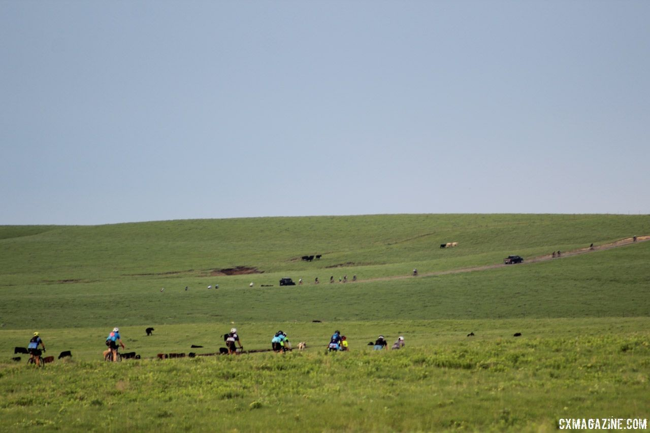 The Flint Hills await for Symns 2018 Dirty Kanza 200. © Z. Schuster / Cyclocross Magazine