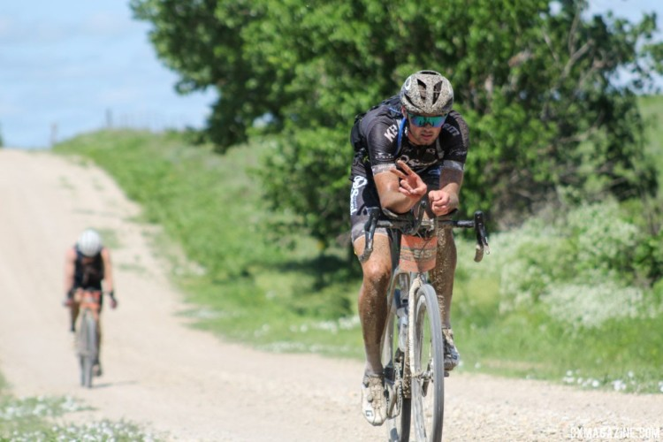 This aero rider was still feeling friendly at mile 80. 2018 Dirty Kanza 200. © Z. Schuster / Cyclocross Magazine