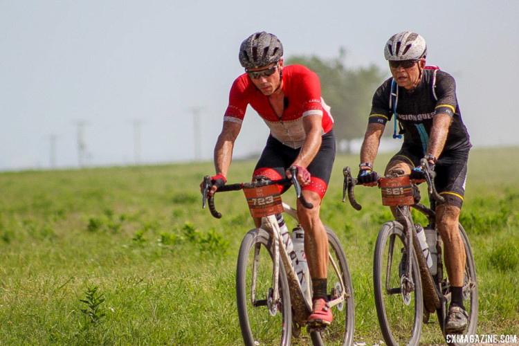 Clemens Kyllmann went home with a good story after riding Nys' wheel for a spell. 2018 Dirty Kanza 200. © Z. Schuster / Cyclocross Magazine