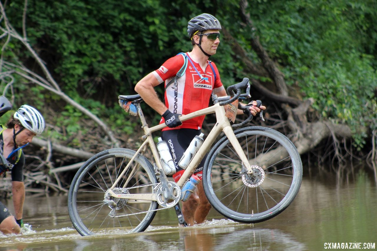 Jamey Driscoll raced the DK200 in 2018, Lost and Found in 2019. 2018 Dirty Kanza 200. © Z. Schuster / Cyclocross Magazine