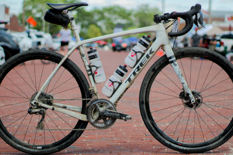 Sven Nys' DK200 Trek Checkpoint gravel bike. 2018 Dirty Kanza 200. © Z. Schuster / Cyclocross Magazine