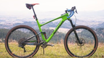 Barry Wicks' Full Suspension Kona Hei Hei Gravel Bike.