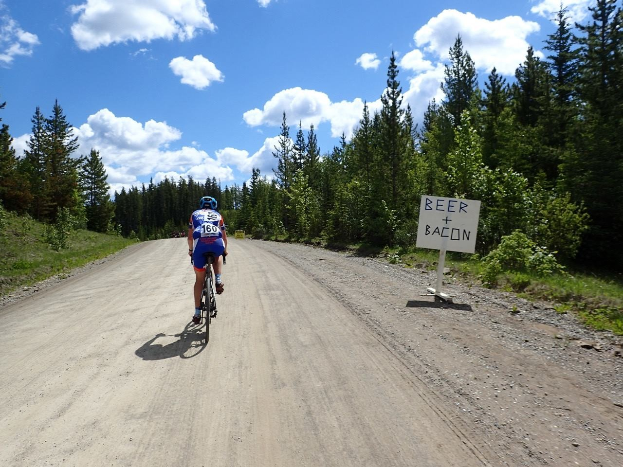 In true gravel fashion, one of the feed zones had beer and bacon. 2018 Ghost of the Gravel. photo: The Ghost of the Gravel has some beautiful vistas along its route. 2018 Ghost of the Gravel. photo: Kunio Tsuyuhara
