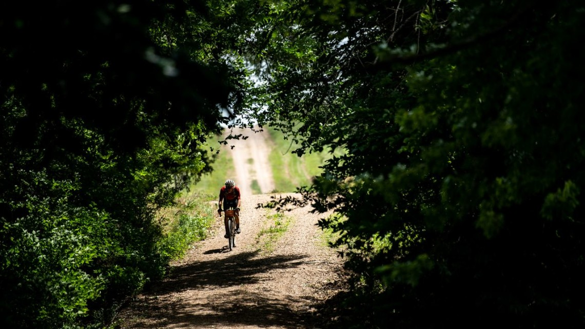 If the riding was lonely at times, at least it was often pretty. 2018 Dirty Kanza 200. © Ian Matteson/ ENVE Composites
