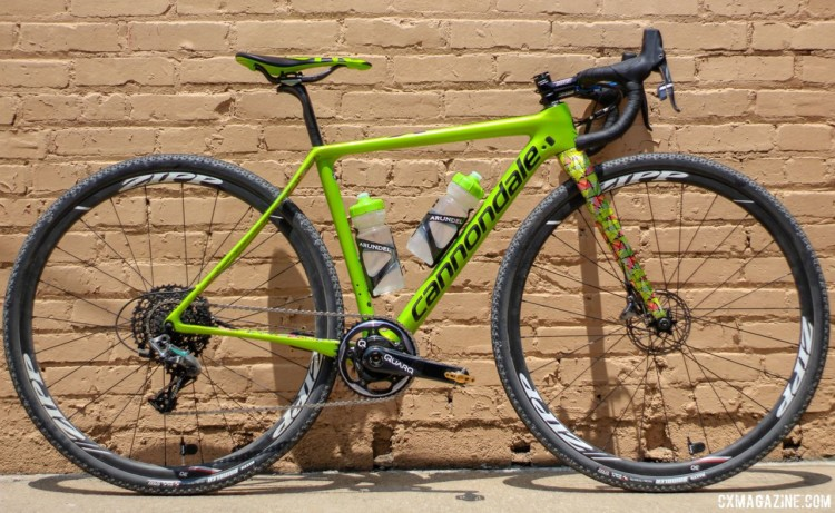 Kaitie Keough's 2018 Dirty Kanza 200 Cannondale SuperX. © Z. Schuster / Cyclocross Magazine