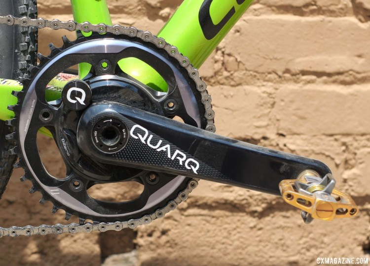 Keough ran a Quarq DZero power meter to measure her efforts. Kaitie Keough's 2018 Dirty Kanza 200 Cannondale SuperX. © Z. Schuster / Cyclocross Magazine