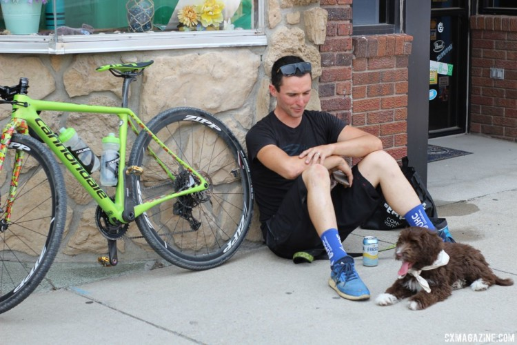 On Friday night, Luke Keough did some dog and bike babysitting. Kaitie Keough's 2018 Dirty Kanza 200 Cannondale SuperX. © Z. Schuster / Cyclocross Magazine