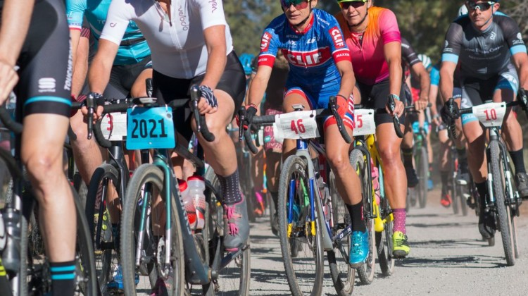 Olivia Dillon #2021 and Katerina Nash, #46 reversed their positions from 2017 both at the start and the finish of the 2018 Lost and Found. © Cyclocross Magazine