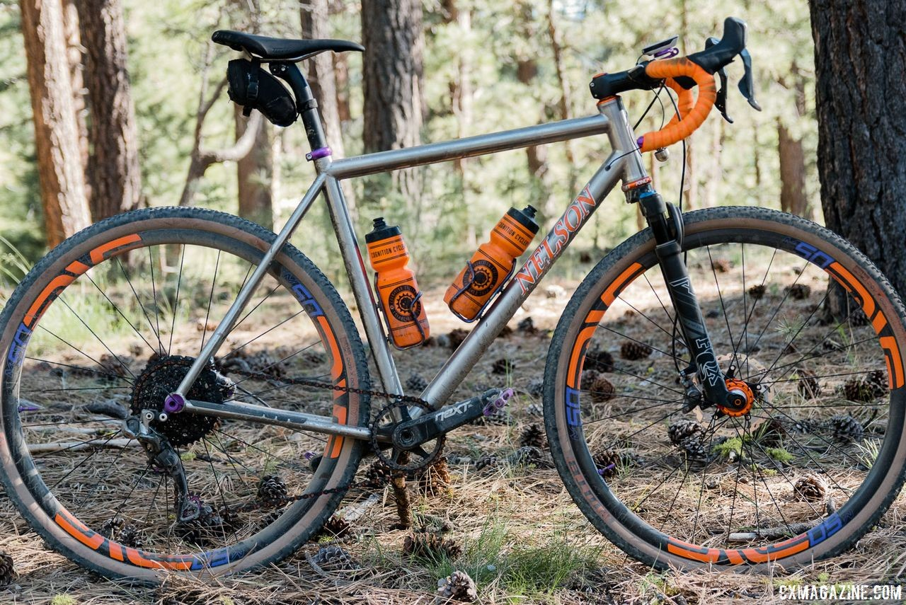 Custom Titanium Cyclocross/Gravel Bike Handbuilt by Dan Nelson. 2018 Lost and Found Gravel Grinder. © C. Lee / Cyclocross Magazine