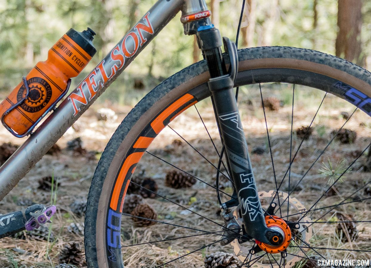 Jaron had Nelson build the bike with a custom front-end geometry to fit a Fox AX Adventure suspension fork. Custom Titanium Cyclocross/Gravel Bike Handbuilt by Dan Nelson. 2018 Lost and Found Gravel Grinder. © C. Lee / Cyclocross Magazine