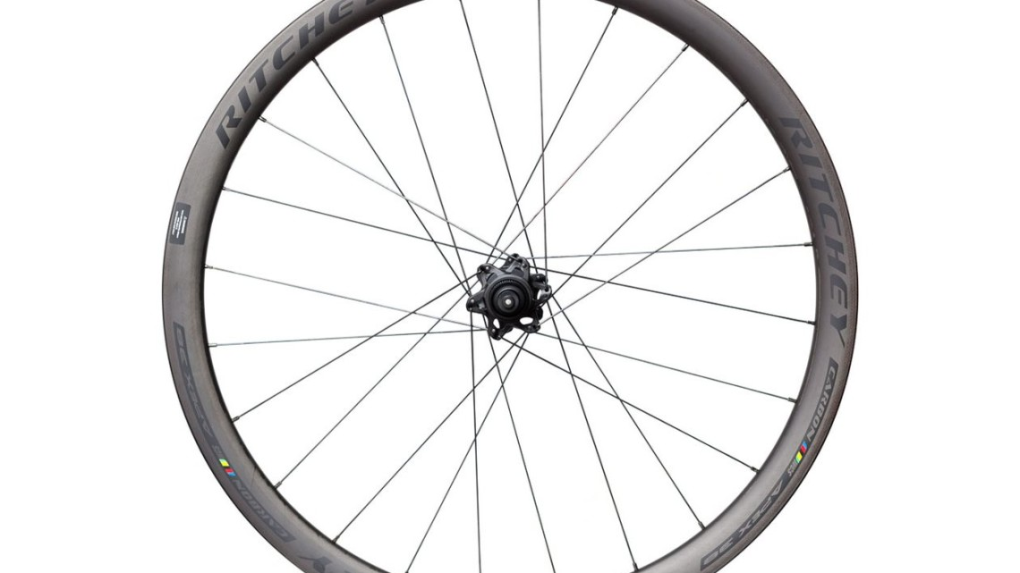 Ritchey's $1,600, 1,710g WCS Apex 38 Tubeless Carbon Road Disc Wheelset. © Cyclocross Magazine
