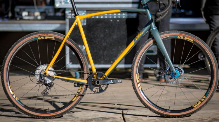 This steel Sklar All-Road is one of the four handbuilt bikes up for raffle to support trail stewardship. © Cyclocross Magazine