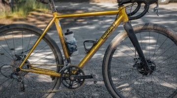 Dylan Glatt's Spooky Gas Mask Gravel/Cyclocross Bike. 2018 Lost and Found Gravel Grinder. © C. Lee / Cyclocross Magazine