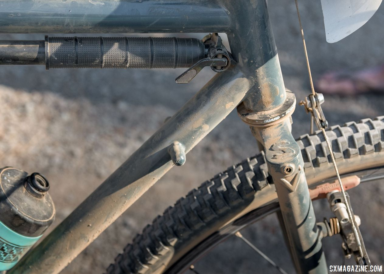 No internal routing here. In fact, users are free to use any drivetrain they please thanks to these down tube shifter bosses. Surly Cross Check Gravel Bike. 2018 Lost and Found Gravel Grinder. © C. Lee / Cyclocross Magazine