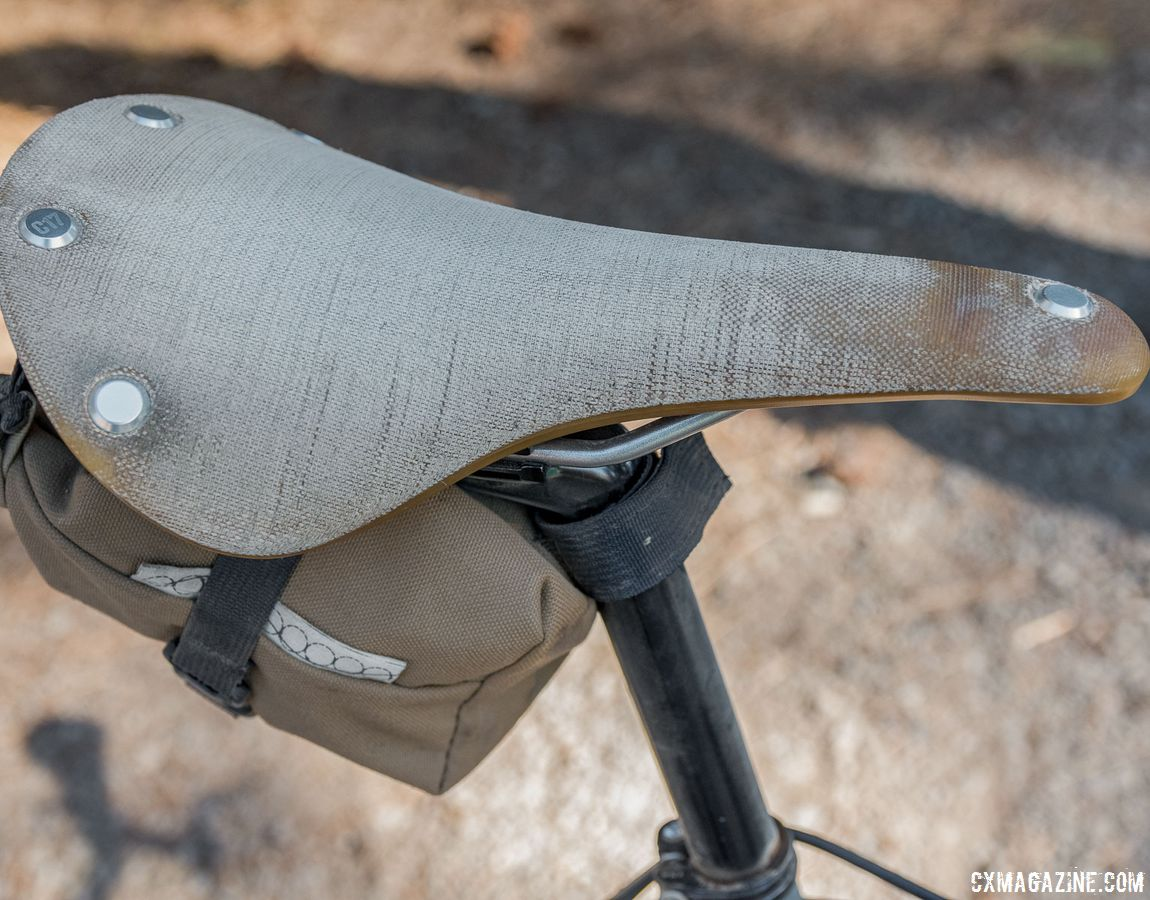 Brooks introduced the Cambium line a few years ago as a modern take on a classic design. It looks as though this one has been in use heavy since its launch. Surly Cross Check Gravel Bike. 2018 Lost and Found Gravel Grinder. © C. Lee / Cyclocross Magazine
