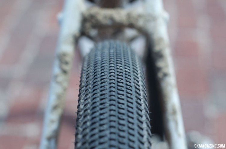 Nys finished on prototype Bontrager GR-1 Team gravel tires that should be available soon. Sven Nys' 2018 Dirty Kanza 200 Trek Checkpoint. © Z. Schuster / Cyclocross Magazine