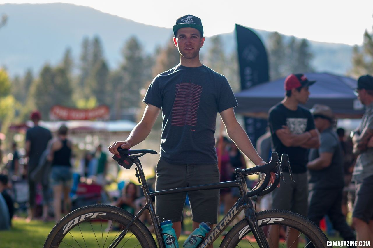 Tobin Ortenblad and his Santa Cruz Stigmata cyclocross bike. © Cyclocross Magazine