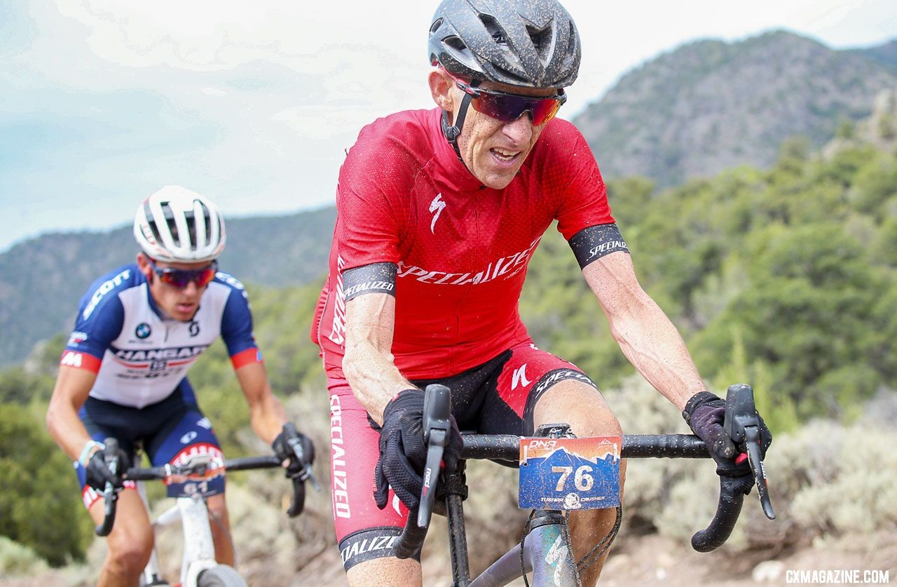 The ageless Ned Overend in the Surlac Pit would crush most pros to finish seventh. © Cathy Fegan-Kim