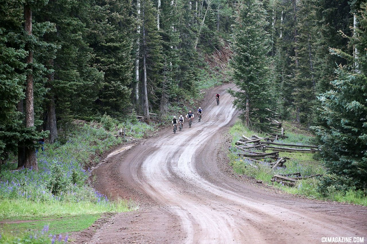Mother Nature kept down the dust, but covered riders in a bit of mud and grit. © Cathy Fegan-Kim