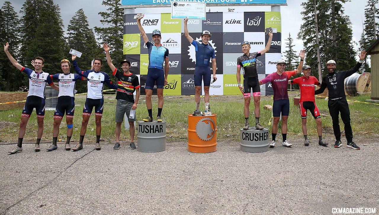Pro Men's Podium, with a $1,000 payday for the winner. © Cathy Fegan-Kim