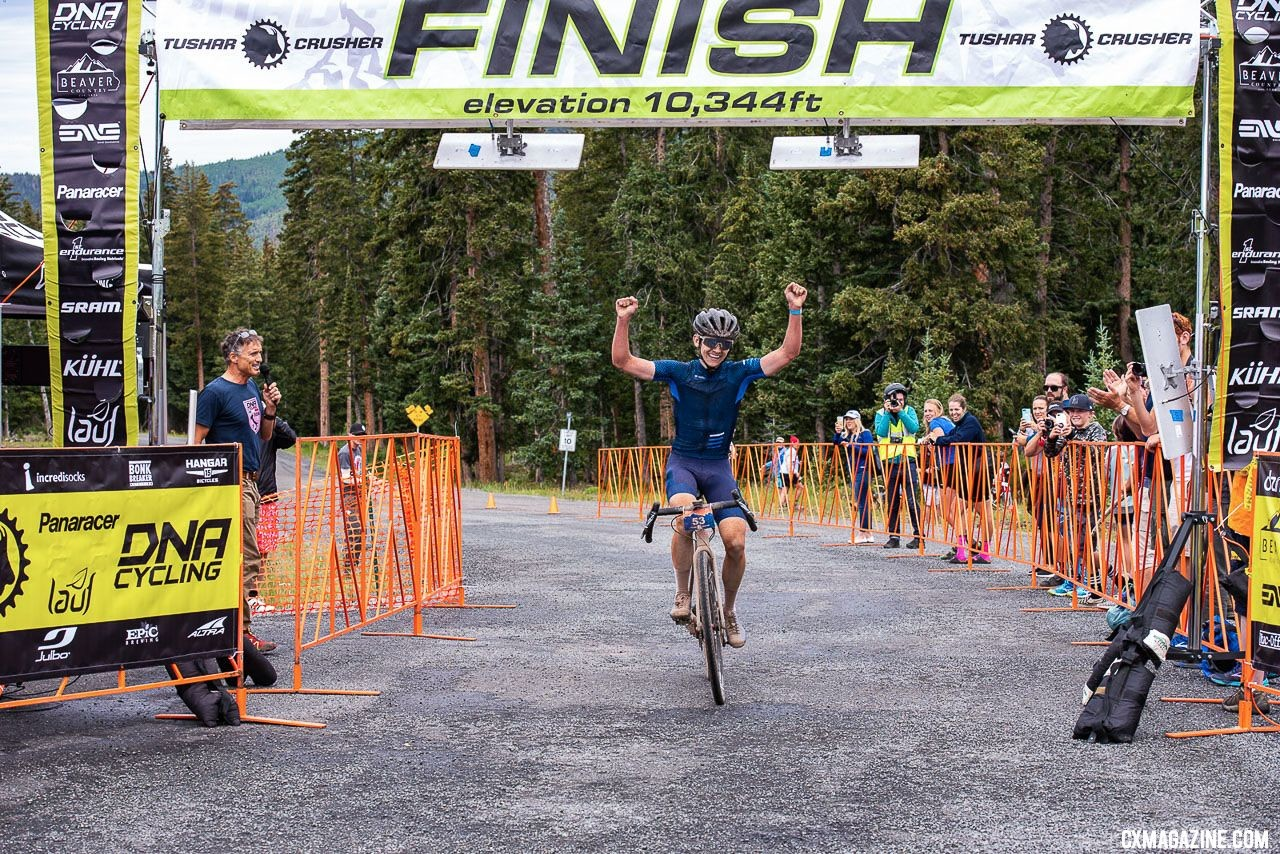 Zach Calton wins the 2018 Crusher in the Tushar. © Steven L. Sheffield