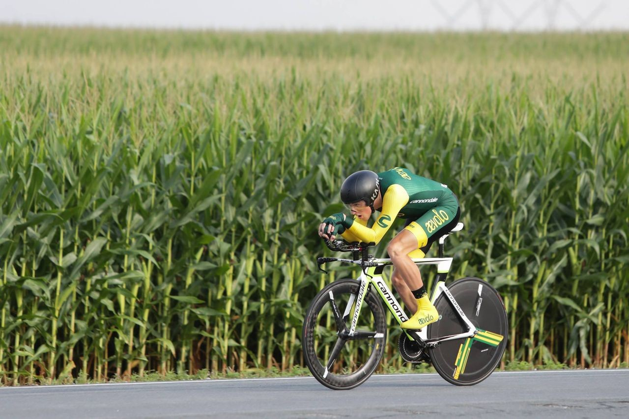 Gage Hecht won the time trial and criterium at U23 Nationals in Maryland. photo: USAC / Bruce Buckley