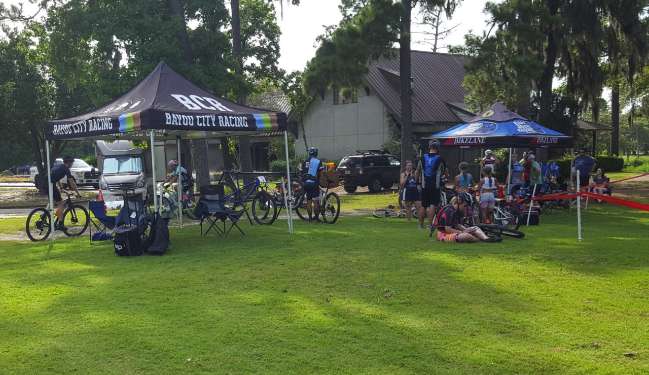 The former golf course venue brought racers and families out on Saturday. 2018 Houston Short Track MTB Series