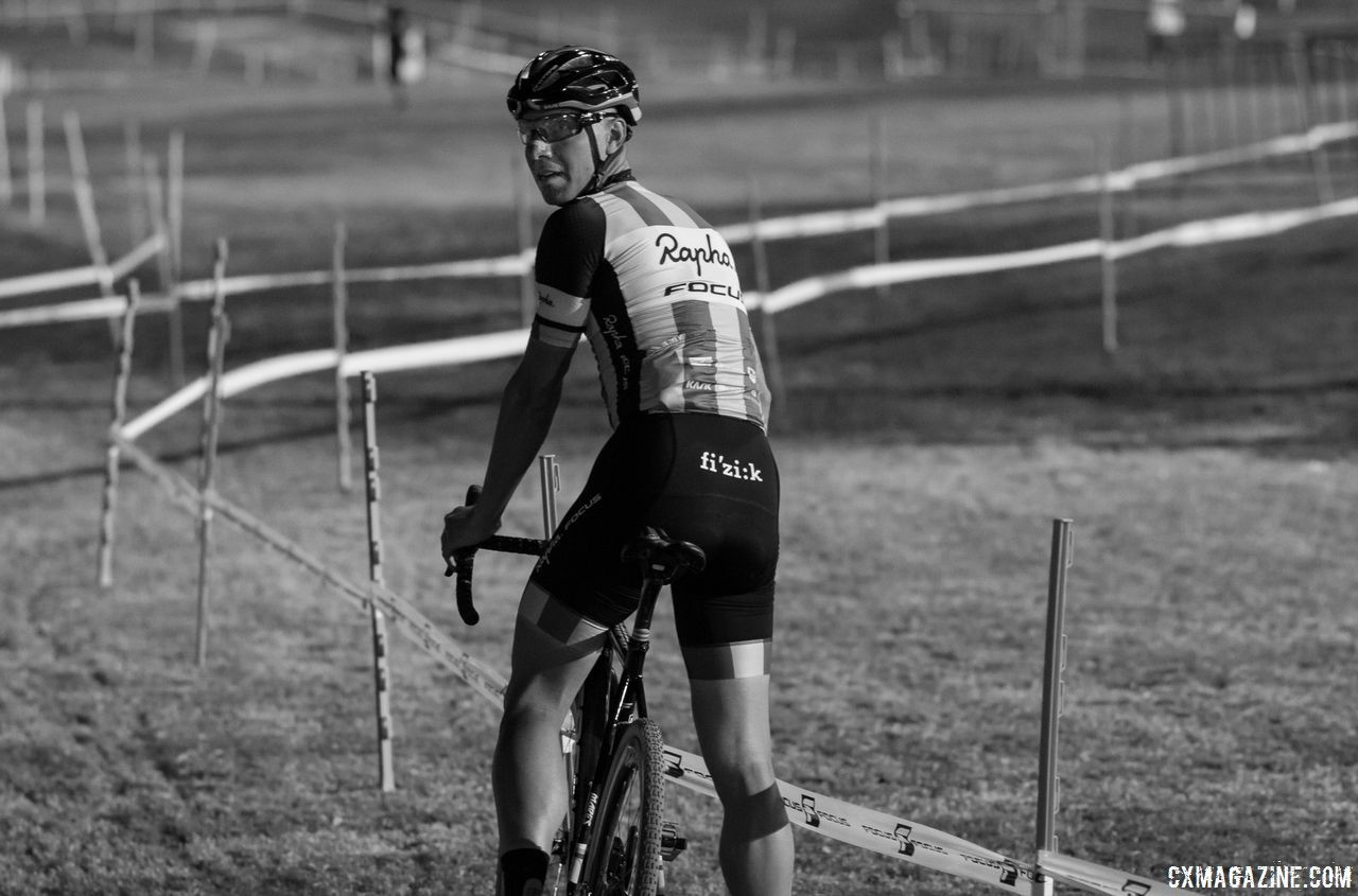 Reflection is an important part of the Seven Stages of Cyclocross. 2017 CrossVegas. © A. Yee / Cyclocross Magazine