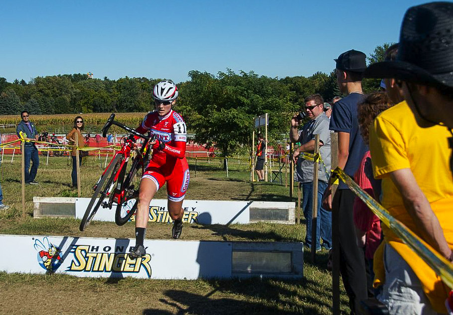 Elle Anderson won both days at the 2013 Trek CXC Cup.