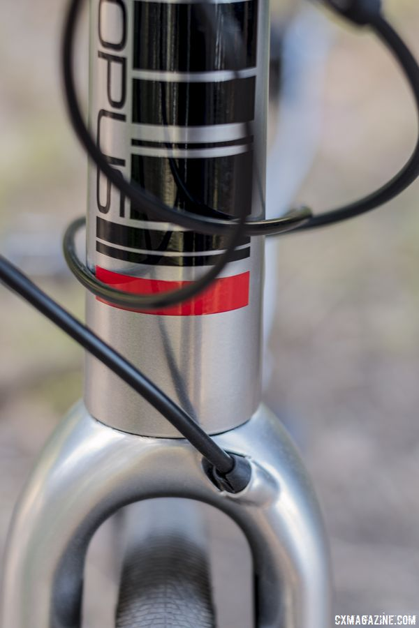 The mechanics are not forced to replace brake lines very often. Opus Spark 1 gravel bike. © C. Lee / Cyclocross Magazine