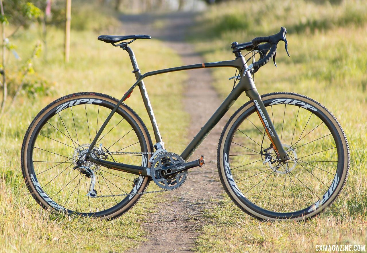 A swap to carbon hoops and tubulars shed a whopping 3 pounds and made the Diamond Back carbon Haanjo EXP race-ready. © Cyclocross Magazine