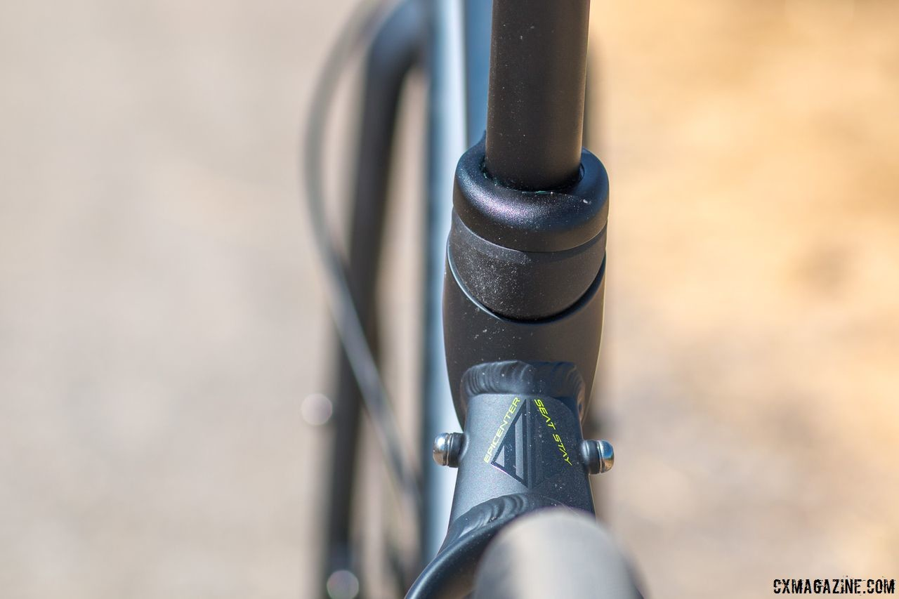The Schwinn Vantage RX1 bike has a soft tail system that adds flex to the rear of the bike, offering up to 15mm of deflection at the saddle. © Cyclocross Magazine
