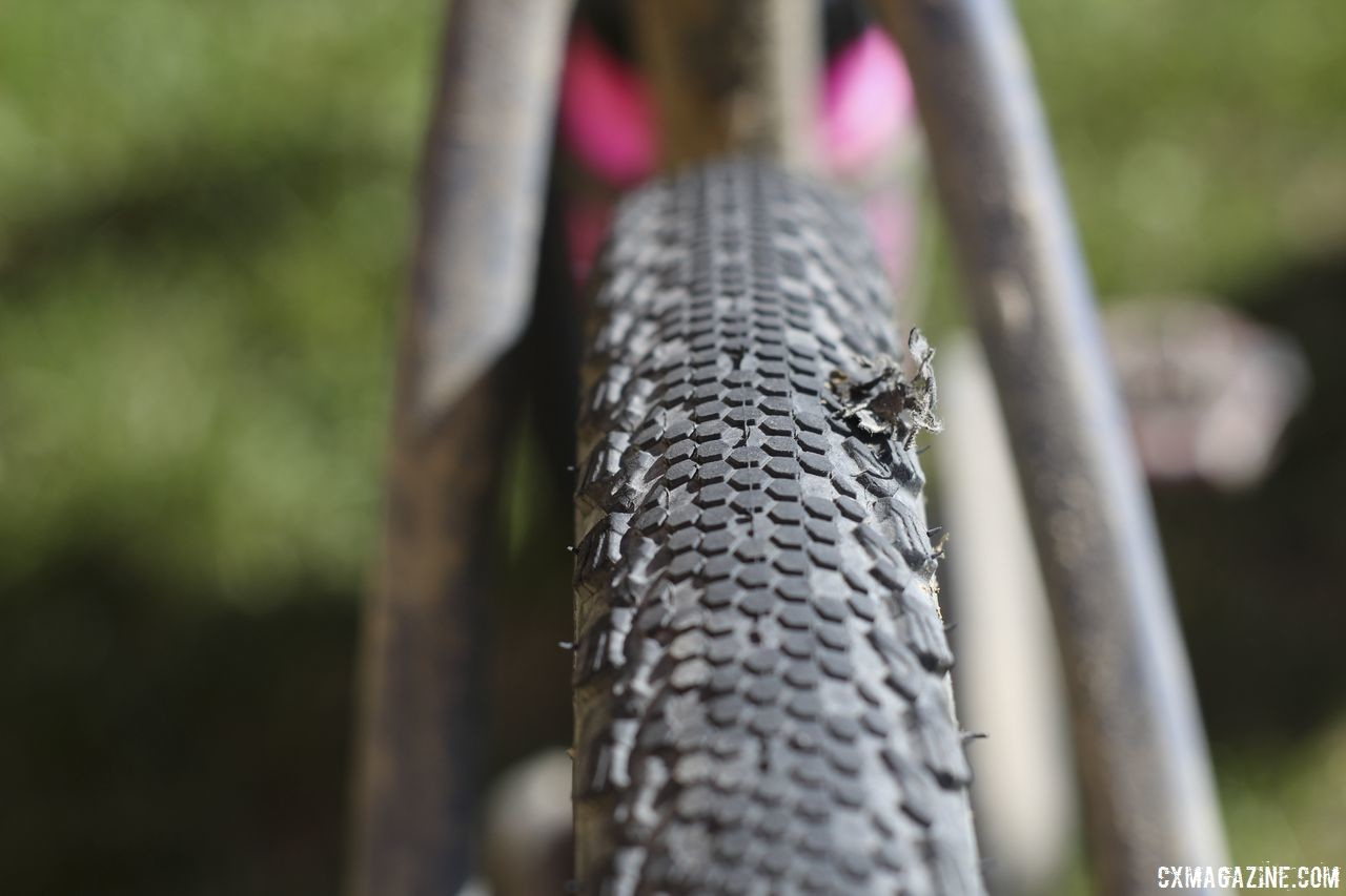 Packing some sealant and tire plugs is a good idea, especially if you run tubeless tires. Michael van den Ham's 2018 DK200 Lauf True Grit. © Z. Schuster / Cyclocross Magazine